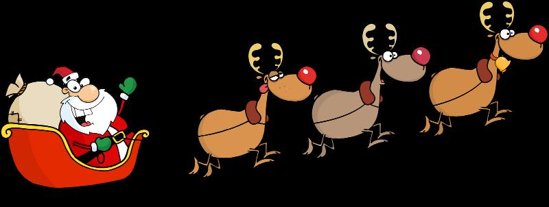 clip art for street view postcards rh mapchannels com santa sleigh reindeer clipart santa sleigh clipart free download